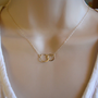 Small sterling silver forever linked together circles necklace