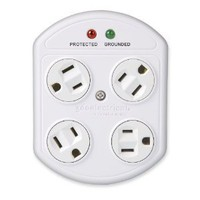 Amazon.com: 360 Electrical 36035-W 4-Outlet Rotating Surge Protector: Home Improvement