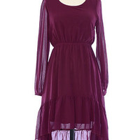 Plum Perfection Peasant Dress