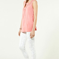Sale Clothing | Pink Pintuck Blouse  | Warehouse
