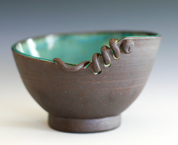modern handmade ceramic bowl from ocpottery on etsy for