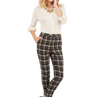 ModCloth 90s, Vintage Inspired, Scholastic Tapered Leg No Matter Putt Pants