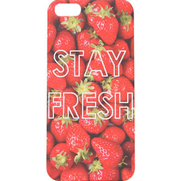 With Love From CA Stay Fresh iPhone 5/5S Case - Womens Scarves - Red - One