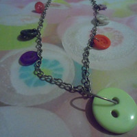 Button necklace Multi-coloured