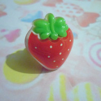 Strawberry adjustable  ring