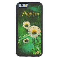 Asters in Green on Wood iPhone 6 case