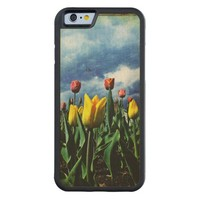 Tulips on a Cloudy Day Wood iPhone 6 case