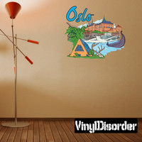 Famous City Oslo Wall Decal - Vinyl Car Sticker - Uscolor065