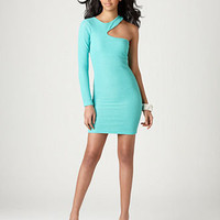 BCBGeneration Dress, One Shoulder Cutout Asymmetrical Neck Mini - Womens Dresses - Macy's