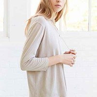 Truly Madly Deeply 3/4 Sleeve Boxy Cropped Tee-