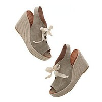 Women&#x27;s SHOES &amp; SANDALS - sandals - The Peep-Toe Platform Espadrille - Madewell