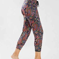 Onzie Black Paisley Drawstring Pant - Urban Outfitters