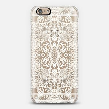 Double Bloom - White Lace Mirrored Doodle iPhone 6 case by Micklyn Le Feuvre | Casetify