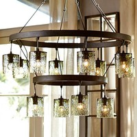 RHONE GLASS TIERED CHANDELIER