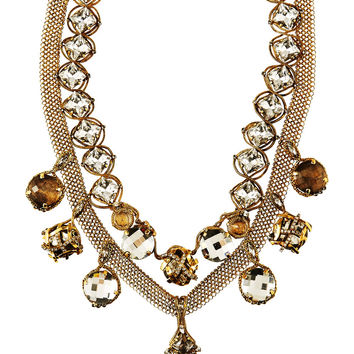 Erickson Beamon - Heart of Gold gold-plated Swarovski crystal necklace
