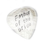 Hammered Guitar Pick Father of the Bride Hand Stamped Personalized Custom Accessory Gift for Groom Man Father Dad Wedding