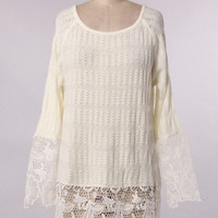 SNOW WHITE LACE SWEATER