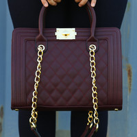 She's Out Of Your League Purse: Maroon - One