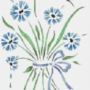 Blue Butterfly Counted Cross Stitch Pattern XSTCH-00151