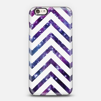 Galaxy White Chevron iPhone 6 case by Organic Saturation | Casetify