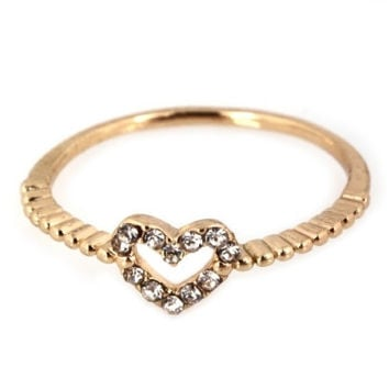 Tiny Heart Ring - Gold or Silver – H.C.B.