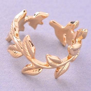 Laurel Wreath Crown Ring - Gold or Silver – H.C.B.