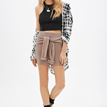 FOREVER 21 Self-Tie Knit Skirt