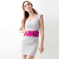 Slim Dress With Bow$42.00