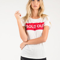 Sold Out Graphic Tee - White - White /
