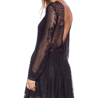 For Love & Lemons Lolo Lace Dress in Black
