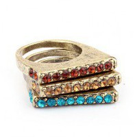 Charming Stack Rings (Colorful 3) | LilyFair Jewelry