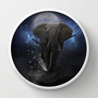Power Is No Blessing In Itself (Protect the Elephants) Wall Clock by soaring anchor designs ⚓ | Society6