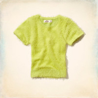 Royal Palms Beach Fuzzy T-Shirt Sweater