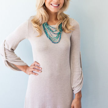 Oh How Cozy Knitted Sweater Dress