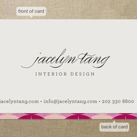 Circular Business Cards by nocciola design at Minted.com