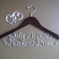 Personalized Wedding Hangers,Bridal Hangers,Wedding Gift,Bride Gift, Name Hanger,Custom made wedding hanger,name hanger.