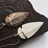 Arrowhead Necklace, Flint Arrowhead, Arrow Jewelry, Unisex, Arrow Necklace