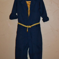 Vintage Jumpsuit Coveralls Military Issue Coveralls Navy Coveralls Blue Jumpsuit US Navy Men's 42 Regular