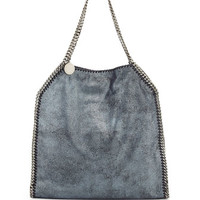 Stella McCartney Falabella Large Tote Bag, Metallic Navy