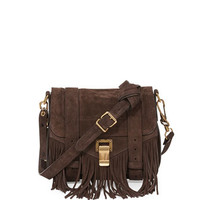 Proenza Schouler PS1 Suede Fringe Shoulder Bag, Brown