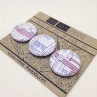 San Francisco Road Trip Magnets Recycled City Maps
