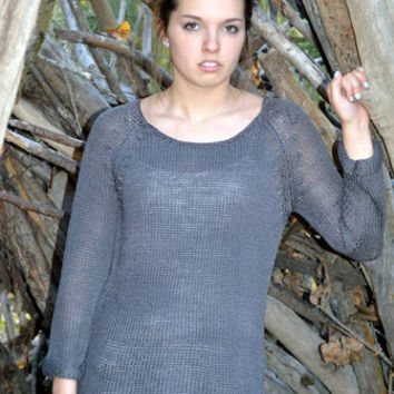 Charcoal Knitted Pullover