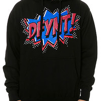 Black DFYNT POW! Hoodie Red and Blue