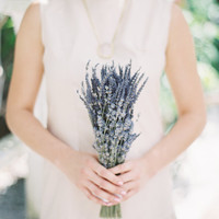 French and English Lavender Wedding Bouquet