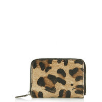 Leather Pony Effect Wallet - New In