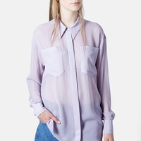 Marques'Almeida for Topshop Oversized Silk Shirt | Nordstrom