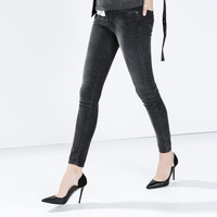 Skinny needlecord trousers