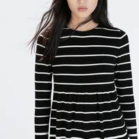 A-line striped sweater