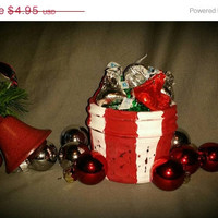 Twitter 500 sale Distressed Mason jar candy cane striped red and white Christmas jar