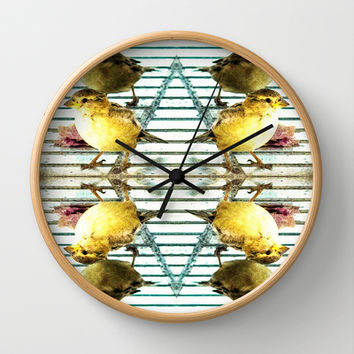 Birds Of A Feather Wall Clock by Louisa Catharine Forsyth